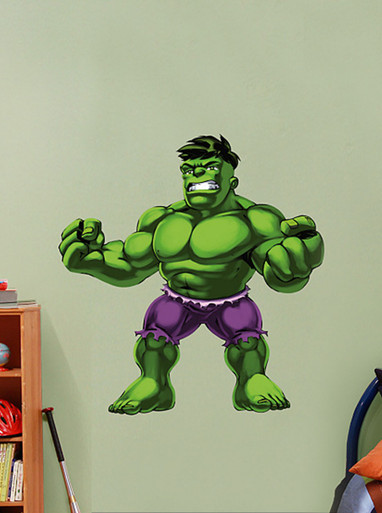 Hulk Super Hero Squad Fathead Wall Graphic