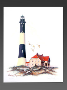 "Fire Island NY Lighthouse Lithograph by Rodney Ferguson Signed Numbered 11""x 14"""