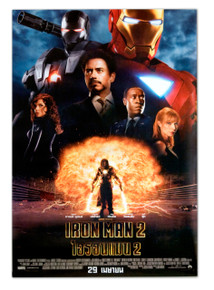 "Iron Man 2 (2010) Thailand Movie Poster Robert Downey Jr Poster 21.5"" X 31"""