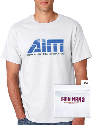 Iron Man 3 Rare Shirt - San Diego Comic Con - AIM: Advanced Idea Mechanics