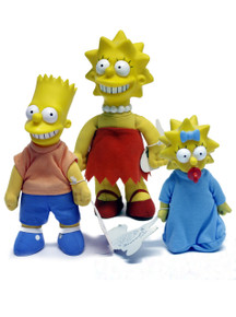 Burger King Toy Simpsons Lot of 3 Lisa Bart Maggie Meet the Simpsons