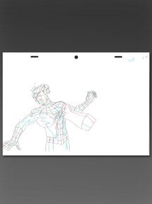 Original Animated Line Art from the making of Ultimate Spider-Man, Season One, Episode 10