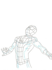 Ultimate Spider-Man Original Marvel Production Art S01E10 Sc 33-S90