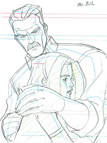 """Wolverine & The X-Men"" Original Animation Art - Jean Grey and Dad"
