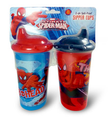 Ultimate Spider-man Sipper Cups, Spill Proof. 2-Pack Sippy Cup featuring your favorite web slinger!