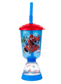 Zak Designs Amazing Spider-Man 9 oz Kids Fun Floats Sipper - Sippy Cup