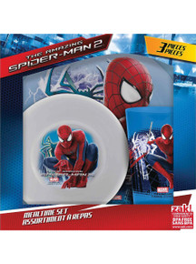 Kid's Dinnerware Set including Plate, Bowl and Cup for The Amazing Spider-Man 2 - Makes a great gift!