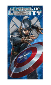 Marvel Captain America Winter Soldier Beach Towel, Blue (62543WC)