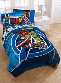 Avengers Full/Twin Comforter featuring Captain America, Iron Man and Hulk