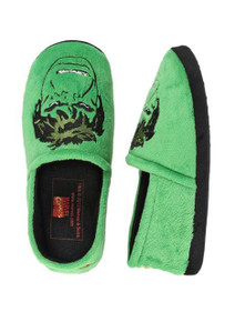 Hulk Mens Green Embroidered Plush Slippers from Marvel Comics