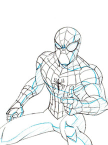 Cool original Spider-Man Art For Sale - Marvel TV Series Ultimate Spider-Man