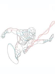 Spidey swings in this original Marvel Artwork