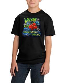 Villains vs Spiderman tshirt Kids Black