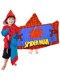 Spider-Man Hooded Towel in Red and Blue (Marvel)