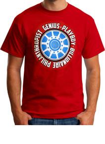 IronMan attitude Tshirt - Genius Billionaire Playboy Philanthropist T-Shirt from Marvel