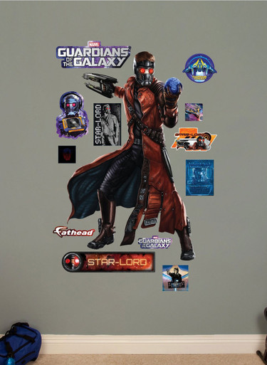 Fathead Star Lord Marvel   Guardians Of The Galaxy Real Big Wall Decal