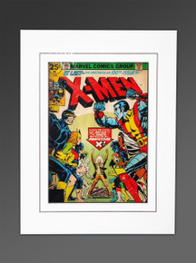 X-men 100 cave cockrum cover art, matted.