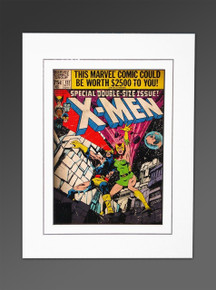 X-Men #137 The Fate Of Phoenix Marvel Cover Art Matted Silver Age John Byrne