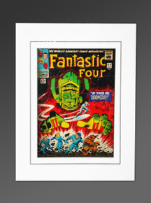 Fantastic Four #49 Galactus Marvel Cover Art Matted by Kirby Sinnott