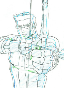 This ain't no Jeremy Renner, this is the ORIGINAL Hawkeye, hand drawn in brilliant detail.