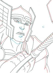 Thor unleashes the power of Mjolnir in Marvel Avengers Assemble