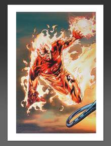 Ultimate Fantastic Four #54 Canvas Giclee Billy Tan Marvel Artworks Limited Edition johnny storm
