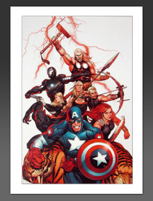 New Ultimates Canvas Giclee Frank Cho Cover with Captain America, Black Widow, Thor, Black Panther, Hawkeye, Iron Man and all the Avengers