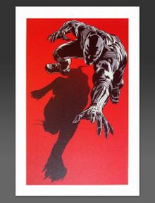 Unique Black Panther Marvel Art on Canvas