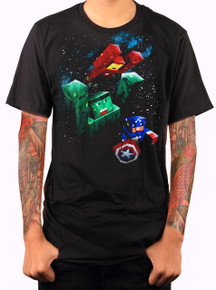 Marvel Minecraft T-shirt Adult Black