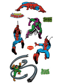 Classic Spidey, Green Goblin and Doc Ock will bring action-packed fun to your walls with these Fathead wall graphics