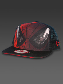 New Era Spider-Man Snapback Hat Adjustable A-Frame 9fifty Marvel Comics Black