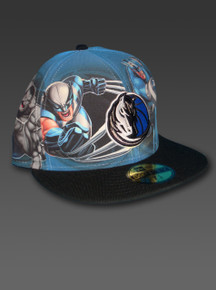 Dallas MAVERICKS New Era 59Fifty Hat Size 7 3/8 Marvel Heroes Custom Fitted