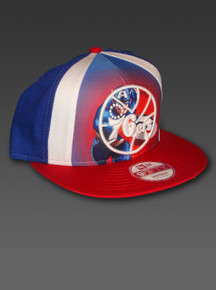 New Era 76ers NBA Snapback Hat 9fifty Adjustable Captain America Philadelphia