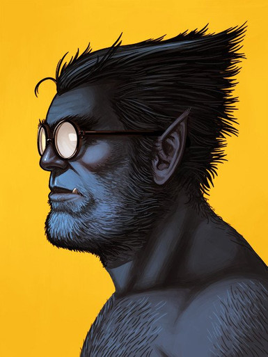 Mondo Marvel's Beast Portrait Giclee Print Proof Front