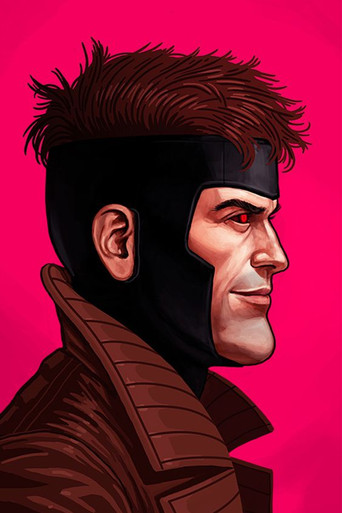 Mondo Mike Mitchell Gambit Portrait art Giclee print Front