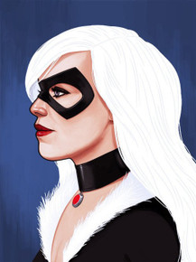 Mondo Black Cat Portrait Proof Print.