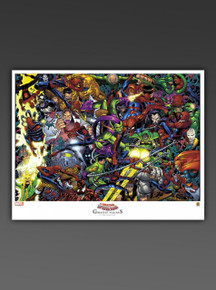"AMAZING SPIDER-MAN ""Greatest Villains"" Lithograph"
