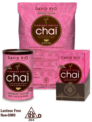 Flamingo Vanilla™ Decaf Sugar-Free Chai Special Offer Free Shipping 6 x 337 gram Cannisters