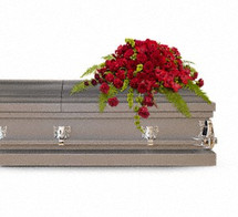 Red Rose Sanctuary Casket Spray