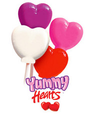 Yummy Hearts Lollipops