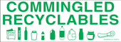 "3 x 8.5"" Commingled Recyclables Decal"