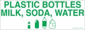 "3 x 8.5"" Plastic Bottles Milk, Soda, Water"