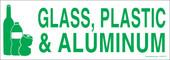 "3 x 8.5"" Glass, Plastic & Aluminum Sticker"