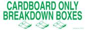 """3 x 8.5"""" Cardboard Only Breakdown Boxes Sticker"""