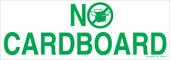 "3 x 8.5"" No Cardboard Sticker"