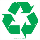 """3.5 x 3.5"""" Square Recycling Bin Decals"""
