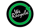 "3"" Circle We Recycle Recycling Decal"