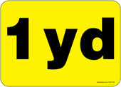 """5 x 7"""" 1 Yard Container Decal"""