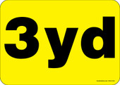 """5 x 7"""" 3 Yard Container Decal.  Container Sticker Decal."""