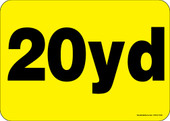 """5 x 7"""" 20 Yard Roll-Off Container Decal"""